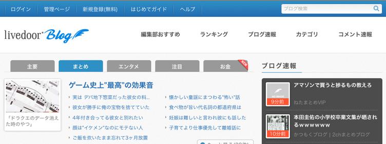 ドメイン「blog.livedoor.jp」のGoogleランクがゼロになっていることが発覚