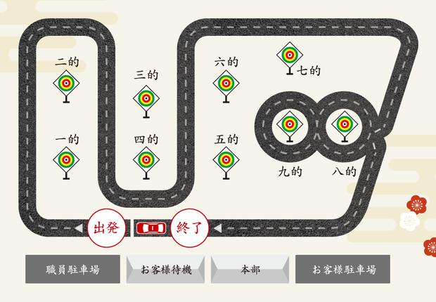 タクシー流鏑馬 コース図
