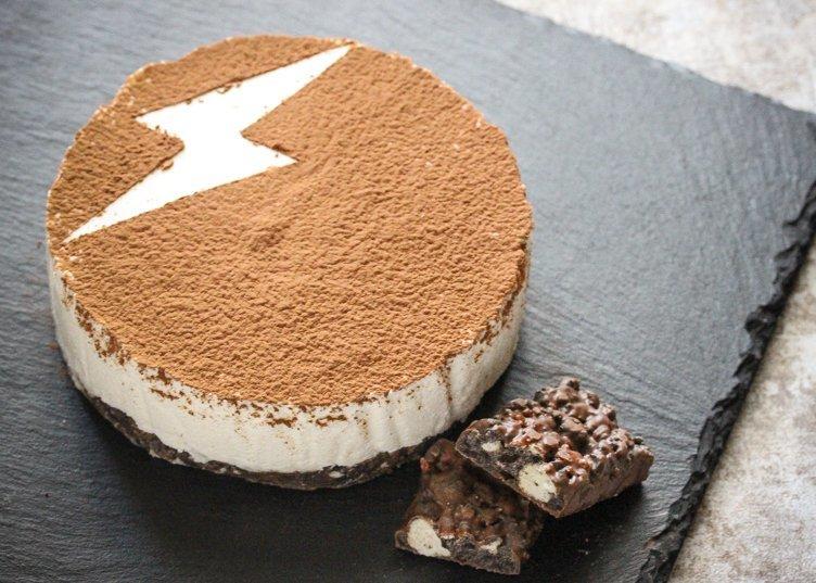 ブラックサンダーを義理から本命へ格上げするチョコチーズケーキ爆誕!