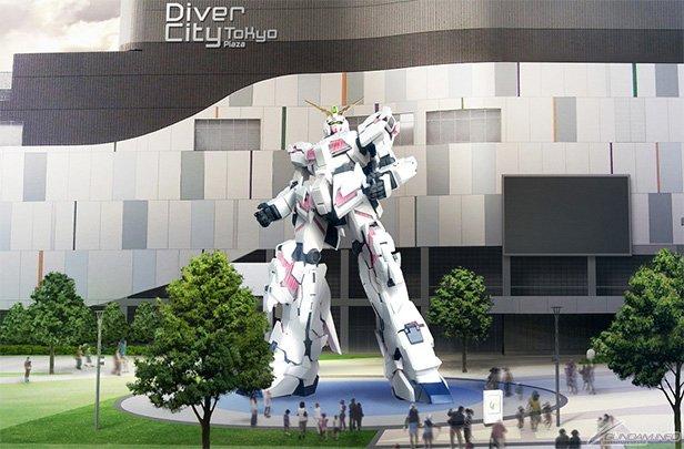 「実物大ユニコーンガンダム立像」イメージ/画像はGUNDAM.INFOより/(C)創通・サンライズ