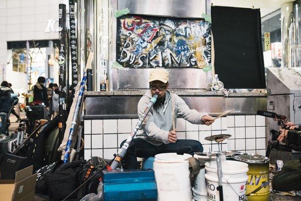311チャリティバスキング in 渋谷 5