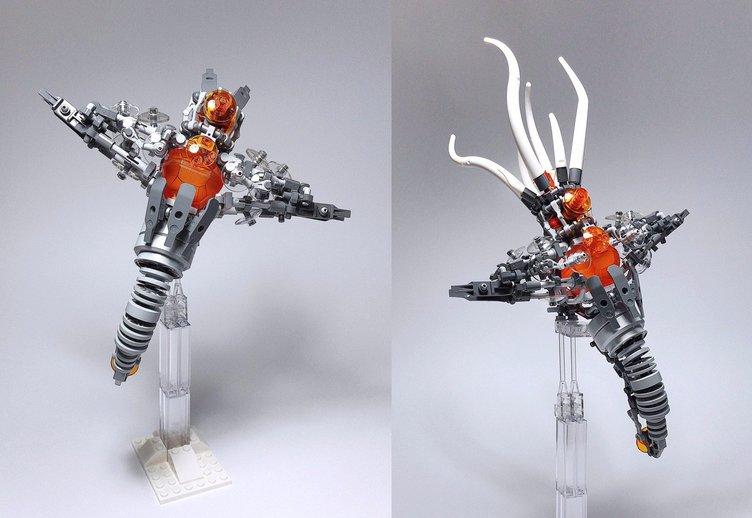 レゴ製「メカクリオネ」が迫力満点! バッカルコーンな捕食も再現
