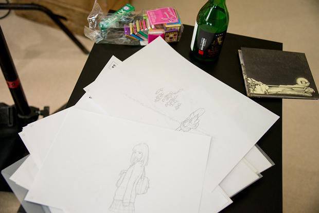 窪之内英策 × 駅すぱあと 手描きアニメ『サヨとコウの出発』イラスト制作&撮影風景12